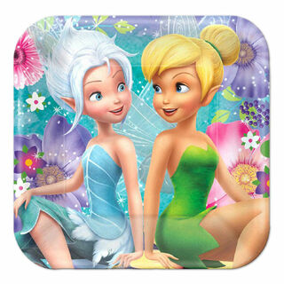 Tinker Bell Lunch Plates - 8 Pack