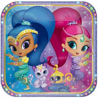 Shimmer and Shine Dinner Plates - 8 Pack