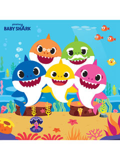 Baby Shark Lunch Napkin - 16 Pack