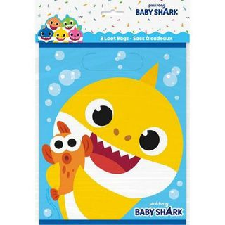 Baby Shark Loot Bags - 8 Pack