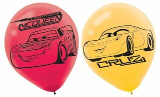 Disney Cars 3 Latex Balloon - 6 Pack