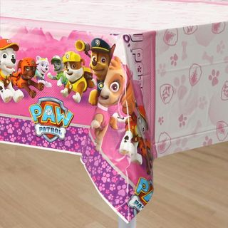 Paw Patrol Pink Table Cover