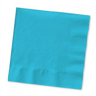 Bermuda Blue Beverage Napkins - 20 Pack