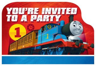 Thomas the Tank Engine Invitations - 8 Pack