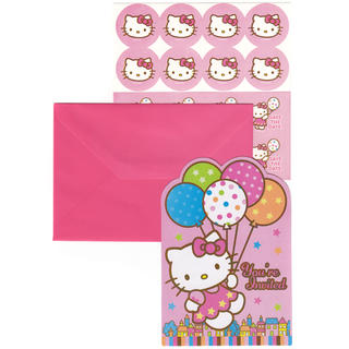 Hello Kitty Invitations - 8 Pack
