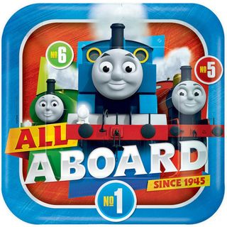 Thomas the Tank Engine Dinner Plates - 8 Pack
