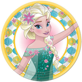 Frozen Fever 9 inch Plates - 8 Pack
