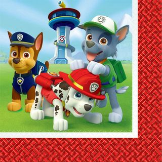 Paw Patrol Lunch Napkins - 16 Pack