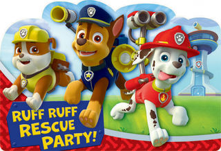 Paw Patrol Invitations - 8 Pack