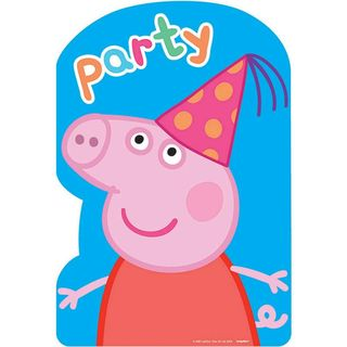 Peppa Pig Invitations - 8 Pack