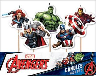 Avengers Cake Candles - 5 Pack