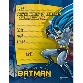 Batman Party Invites - 8 Pack