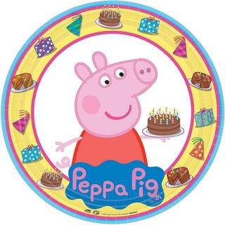 Peppa Pig Plates - 8 Pack