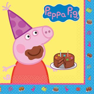 Peppa Pig Lunch Napkins - 16 Pack