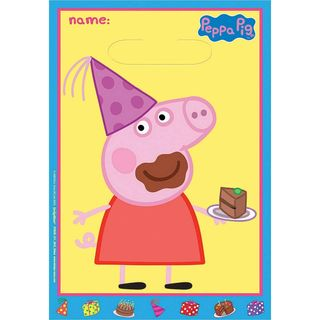 Peppa Pig  Favor Loot Bags - 8 Pack