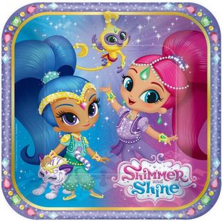 Shimmer and Shine Lunch Plates - 8 Pack