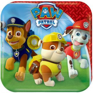 Paw Patrol Lunch Plate - 8 Pack
