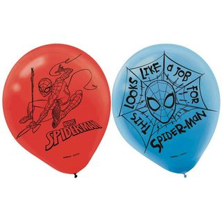 Spider-Man Latex Balloons - 6 Pack