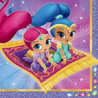 Shimmer and Shine Lunch Napkins - 16 Pack