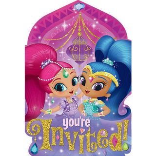 Shimmer and Shine Postcard Invitations - 8 Pack