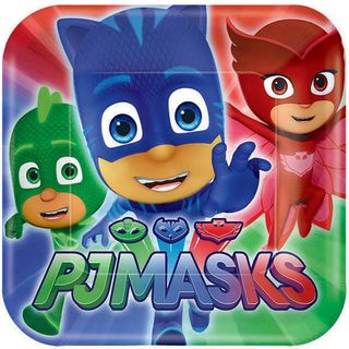 PJ Masks Dinner Plates - 8 Pack