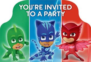 PJ Masks Invitations - 8 Pack