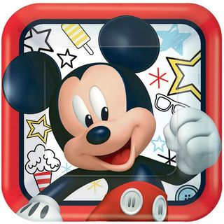 Mickey Mouse Dinner Plate  - 8 Pack