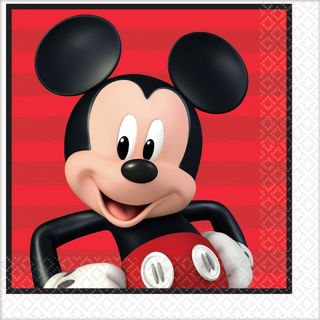 Mickey Mouse Lunch Napkin - 16 Pack