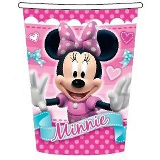 Minnie Mouse Cups - 8 Pack