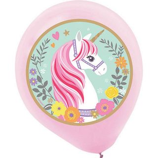 Magical Unicorn Latex Balloons - 5 Pack
