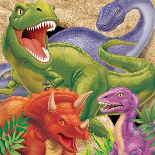 Dino Blast Lunch Napkins - 16 Pack
