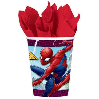 Spider-Man Webbed Wonder Party Cups - 8 Pack
