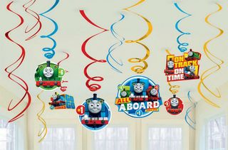 Thomas the Tank Engine Hanging Decorations - 12 Pieces