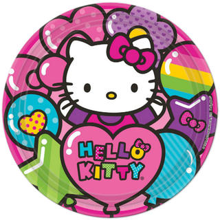 Hello Kitty Rainbow Dinner Plates