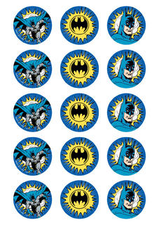 Batman Cup Cake Toppers