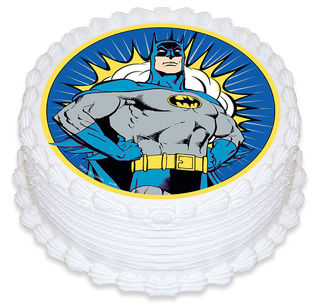 Batman Round Cake Topper