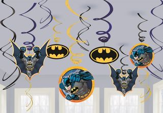 Batman Hanging Swirls