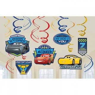 Disney Cars 3 Hanging Decorations