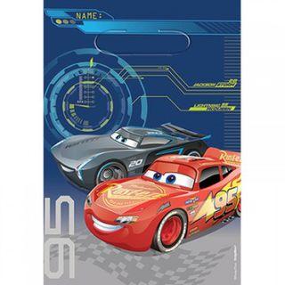 Disney Cars 3 Loot Bags - 8 Pack