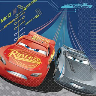 Disney Cars 3 Lunch Napkins - 16 Pack