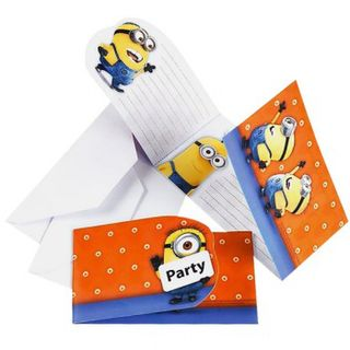 Minions Invitations - Orange 6pk