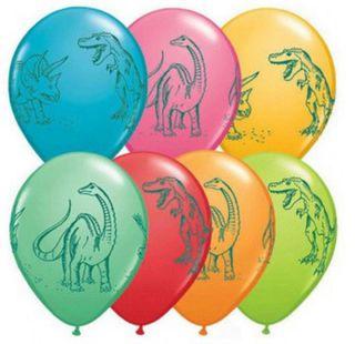 Dinosaur Printed Balloons
