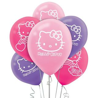 Hello Kitty Latex Balloons