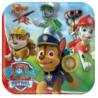 Paw Patrol Dinner Plates - 8 Pack