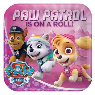 Paw Patrol Girls Dinner Plates - 8 Pack