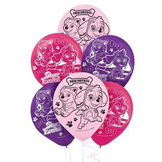 Paw Patrol Girls Latex Balloons - 6 Pack