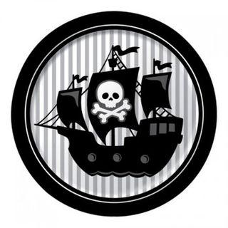 Pirate Party Plates - Skull & Crossbones