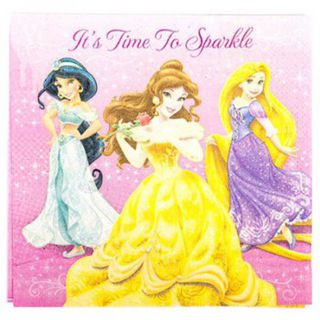 Disney Princess Lunch Napkins - 16 Pack