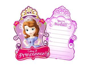 Sofia the First Invitation  8pk