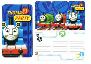 Thomas No1 Invites - 8 Pack